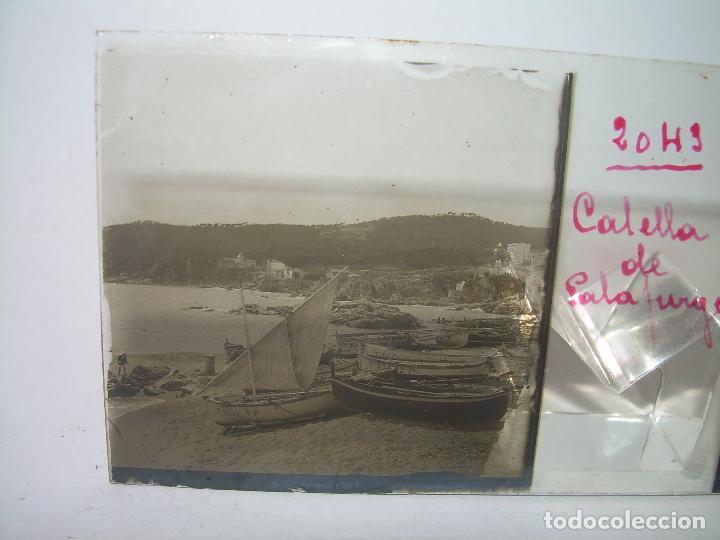 Fotografía antigua: CUATRO CRISTALES ESTEREOSCOPICOS......CALELLA DE PALAFRUGELL.....CIRCA...1.900 - Foto 7 - 89682876