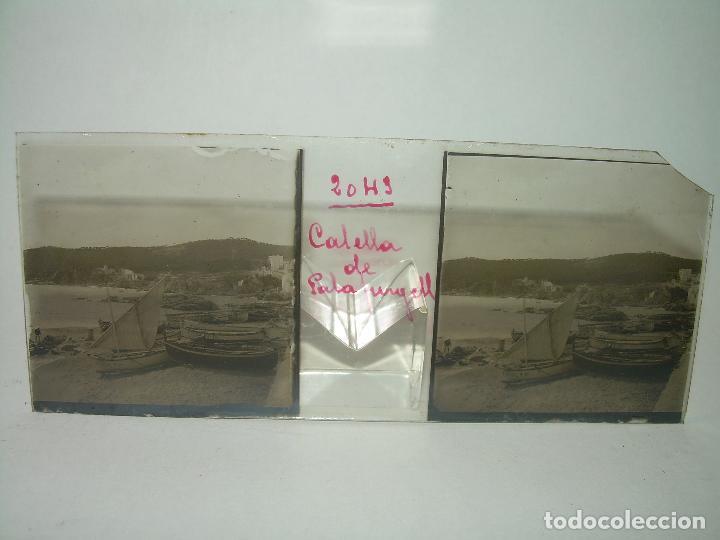 Fotografía antigua: CUATRO CRISTALES ESTEREOSCOPICOS......CALELLA DE PALAFRUGELL.....CIRCA...1.900 - Foto 8 - 89682876
