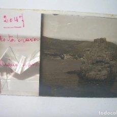 Fotografía antigua: DOS CRISTALES ESTEREOSCOPICOS.......AIGUABLAVA..COSTA BRAVA.......CIRCA. 1.900. Lote 89683460