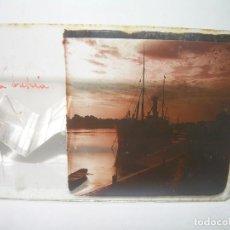 Fotografía antigua: CRISTAL ESTEREOSCOPICO.......EN LA BAHIA.......CIRCA. 1.900. Lote 89684168