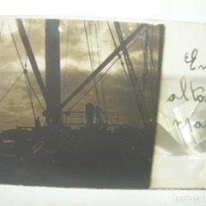 Fotografía antigua: CRISTAL ESTEREOSCOPICO......EN ALTA MAR.......CIRCA. 1.900. Lote 89684788