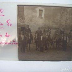 Fotografía antigua: TRES CRISTALES ESTEREOSCOPICOS..SANTA FE MONTSENY..GRUPO EXCURSIONISTAS A CABALLO ......CIRCA. 1.900. Lote 89750172