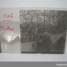 Fotografía antigua: TRES CRISTALES ESTEREOSCOPICOS.PERSONAJES ILUSTRES O PINTORES TOMANDO APUNTES.....CIRCA 1.900. Lote 89762956