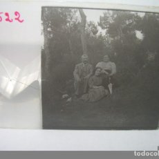 Fotografía antigua: CRISTAL ESTEREOSCOPICO.......PERSONAJES.......CIRCA. 1.900. Lote 89769164