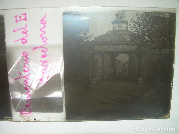 Fotografía antigua: TRES CRISTALES ESTEREOSCOPICO.......CEMENTERIO DE BARCELONA.......CIRCA. 1.900 - Foto 3 - 89886948