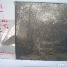 Fotografía antigua: CRISTAL ESTEREOSCOPICO.......RIERA DE SANTA FE DEL MONTSENY.......CIRCA. 1.900. Lote 90212948