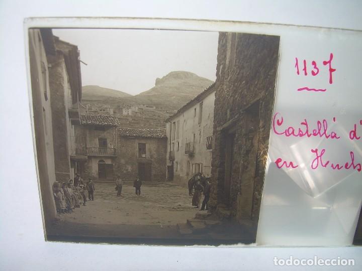 TRES CRISTALES ESTEREOSCOPICOS.......CASTELLÀ DE NUCH.......CIRCA. 1.900 (Fotografía Antigua - Estereoscópicas)