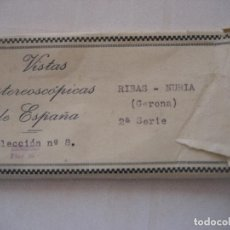 Fotografía antigua: RIBAS - NURIA. GERONA., 15 VISTAS ESTEREOSCÓPICAS DE ESPAÑA. SERIE 2ª. Nº 8.. Lote 90522650