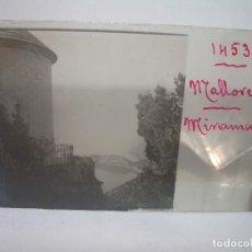 Fotografía antigua: DOS CRISTALES ESTEREOSCOPICOS.......MALLORCA - MIRAMAR.......CIRCA. 1.900. Lote 90538300