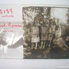 Fotografía antigua: DOS CRISTALES ESTEREOSCOPICOS.......FONT ROMEU.......CIRCA. 1.900. Lote 90644825