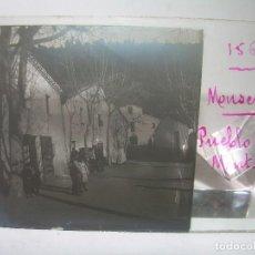 Fotografía antigua: CUATRO CRISTALES ESTEREOSCOPICOS....PUEBLO DE MONTSENY....CIRCA..1.900. Lote 90738885
