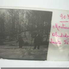 Fotografía antigua: CRISTAL ESTEREOSCOPICO.......MONTSENY ..ALRREDEDORES DE SANTA FE........CIRCA. 1.900. Lote 90741930