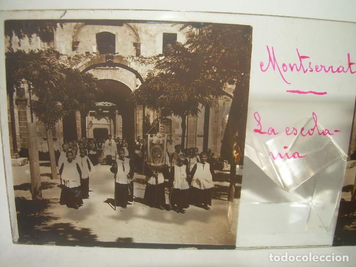 Fotografía antigua: DOS CRISTALES ESTEREOSCOPICOS.......MONTSERRAT...LA ESCOLANIA.......CIRCA. 1.900 - Foto 2 - 90822150
