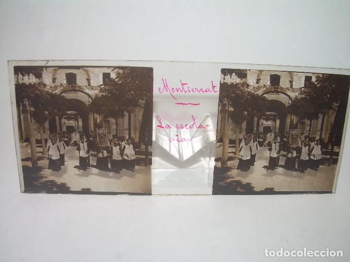 Fotografía antigua: DOS CRISTALES ESTEREOSCOPICOS.......MONTSERRAT...LA ESCOLANIA.......CIRCA. 1.900 - Foto 4 - 90822150