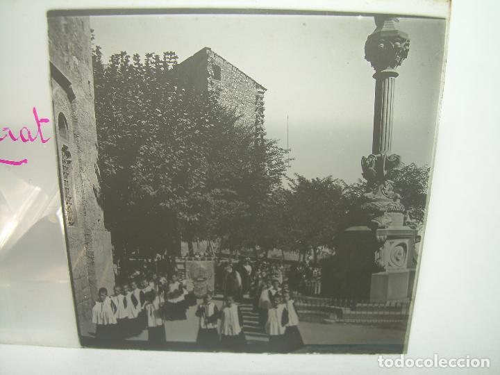Fotografía antigua: DOS CRISTALES ESTEREOSCOPICOS.......MONTSERRAT...LA ESCOLANIA.......CIRCA. 1.900 - Foto 5 - 90822150