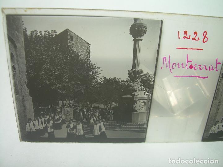 Fotografía antigua: DOS CRISTALES ESTEREOSCOPICOS.......MONTSERRAT...LA ESCOLANIA.......CIRCA. 1.900 - Foto 6 - 90822150