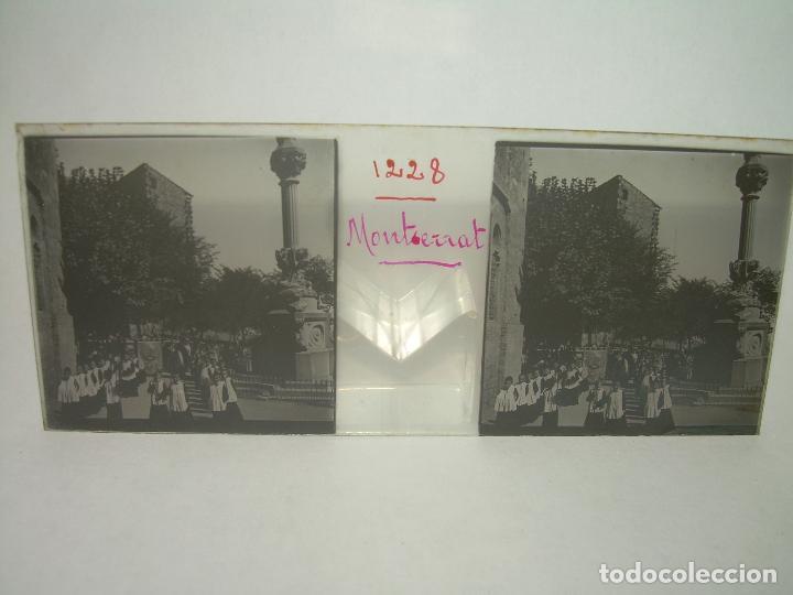 Fotografía antigua: DOS CRISTALES ESTEREOSCOPICOS.......MONTSERRAT...LA ESCOLANIA.......CIRCA. 1.900 - Foto 7 - 90822150