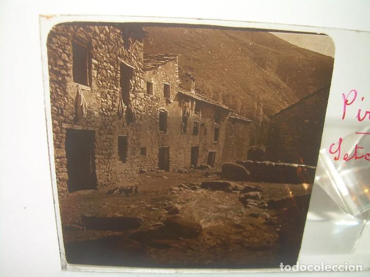 TRES CRISTALES ESTEREOSCOPICOS.......SETCASES...RIPOLLES...VALLTER 2000....CIRCA. 1.900 (Fotografía Antigua - Estereoscópicas)