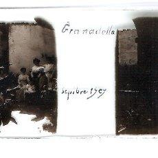 Fotografía antigua: LA GRANADELLA ORIGINAL 1909 LLEIDA LERIDA PLACA POSITIVO CRISTAL FOTOGRAFIA ANTIGUA. Lote 91250130