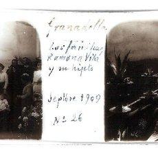 Fotografía antigua: LA GRANADELLA ORIGINAL 1909 LLEIDA LERIDA PLACA POSITIVO CRISTAL FOTOGRAFIA ANTIGUA. Lote 91250155