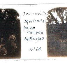 Fotografía antigua: LA GRANADELLA FINCA CURRONA ORIGINAL 1909 LLEIDA LERIDA PLACA POSITIVO CRISTAL FOTOGRAFIA ANTIGUA. Lote 91250275