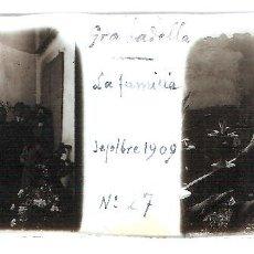 Fotografía antigua: LA GRANADELLA ORIGINAL 1909 LLEIDA LERIDA PLACA POSITIVO CRISTAL FOTOGRAFIA ANTIGUA. Lote 91250320