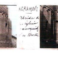 Fotografía antigua: LLEIDA LERIDA AGRAMUNT 4 PLACAS CIRCA 1920 ESTEREOSCOPICAS POSITIVO CRISTAL FOTOGRAFIA ANTIGUA. Lote 91436335