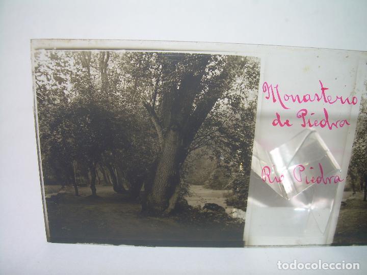 Fotografía antigua: CAJETIN CON 25 CRISTALES DEL MONASTERIO DE PIEDRA....CIRCA...1.900 - Foto 3 - 92078880