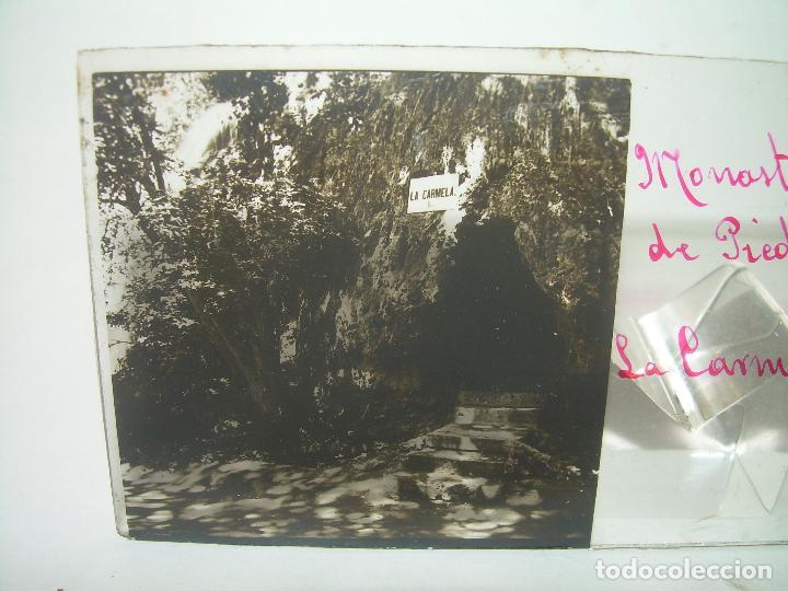 Fotografía antigua: CAJETIN CON 25 CRISTALES DEL MONASTERIO DE PIEDRA....CIRCA...1.900 - Foto 8 - 92078880