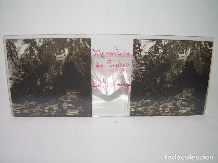 Fotografía antigua: CAJETIN CON 25 CRISTALES DEL MONASTERIO DE PIEDRA....CIRCA...1.900 - Foto 9 - 92078880