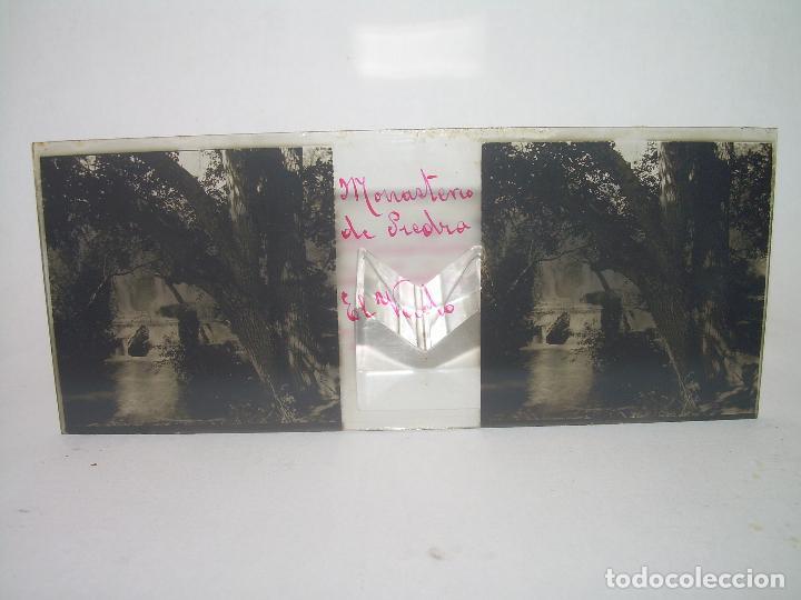Fotografía antigua: CAJETIN CON 25 CRISTALES DEL MONASTERIO DE PIEDRA....CIRCA...1.900 - Foto 32 - 92078880