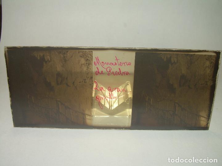 Fotografía antigua: CAJETIN CON 25 CRISTALES DEL MONASTERIO DE PIEDRA....CIRCA...1.900 - Foto 34 - 92078880