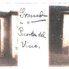 Fotografía antigua: GRANADA PUERTA DEL VINO CIRCA 1920 ESTEREOSCOPICAS POSITIVO CRISTAL FOTOGRAFIA ANTIGUA. Lote 92121985