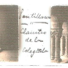 Fotografía antigua: SANTILLANA DEL MAR CLAUSTRO COLEGIATA CIRCA 1920 ESTEREOSCOPICAS POSITIVO CRISTAL FOTOGRAFIA ANTIGUA. Lote 92122060