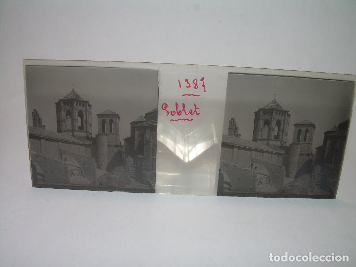 Fotografía antigua: CAJETIN 25 CRISTALES ESTEREOSCOPICOS...MONASTERIO POBLET EN RUINAS..ANTES DE SER RECONSTRUIDO CA1910 - Foto 2 - 92342180