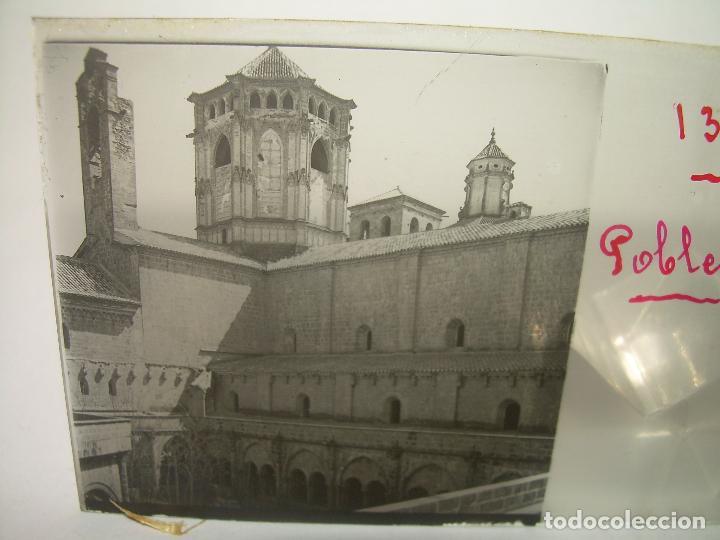 Fotografía antigua: CAJETIN 25 CRISTALES ESTEREOSCOPICOS...MONASTERIO POBLET EN RUINAS..ANTES DE SER RECONSTRUIDO CA1910 - Foto 3 - 92342180