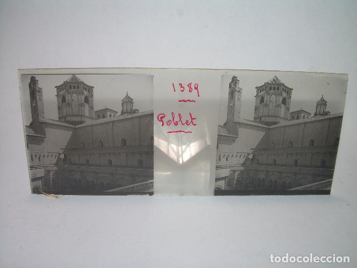 Fotografía antigua: CAJETIN 25 CRISTALES ESTEREOSCOPICOS...MONASTERIO POBLET EN RUINAS..ANTES DE SER RECONSTRUIDO CA1910 - Foto 4 - 92342180
