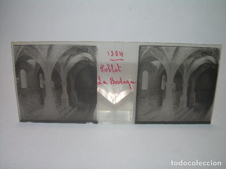 Fotografía antigua: CAJETIN 25 CRISTALES ESTEREOSCOPICOS...MONASTERIO POBLET EN RUINAS..ANTES DE SER RECONSTRUIDO CA1910 - Foto 7 - 92342180