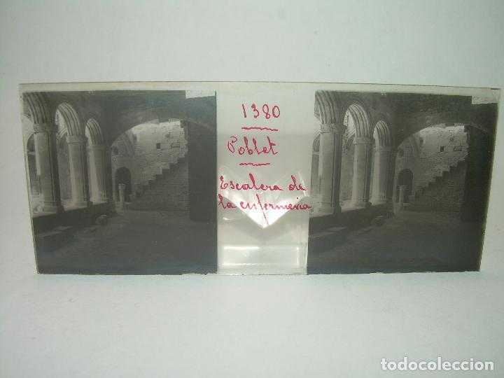 Fotografía antigua: CAJETIN 25 CRISTALES ESTEREOSCOPICOS...MONASTERIO POBLET EN RUINAS..ANTES DE SER RECONSTRUIDO CA1910 - Foto 9 - 92342180