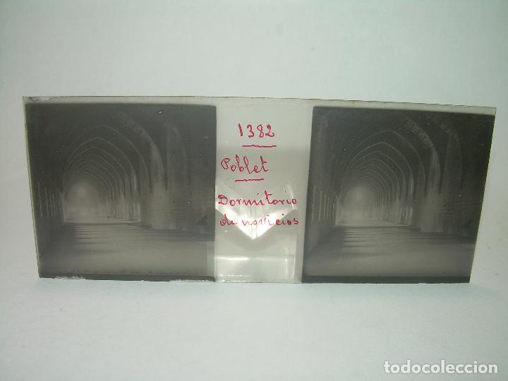 Fotografía antigua: CAJETIN 25 CRISTALES ESTEREOSCOPICOS...MONASTERIO POBLET EN RUINAS..ANTES DE SER RECONSTRUIDO CA1910 - Foto 11 - 92342180