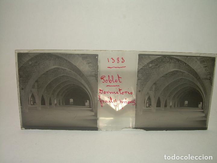 Fotografía antigua: CAJETIN 25 CRISTALES ESTEREOSCOPICOS...MONASTERIO POBLET EN RUINAS..ANTES DE SER RECONSTRUIDO CA1910 - Foto 12 - 92342180