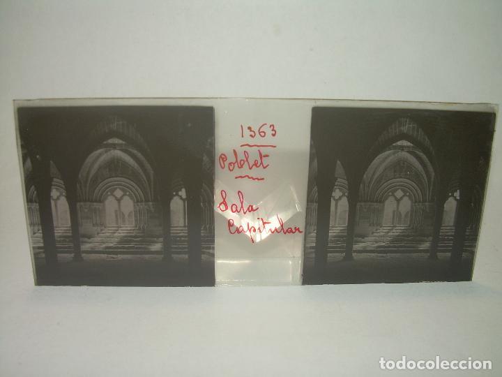 Fotografía antigua: CAJETIN 25 CRISTALES ESTEREOSCOPICOS...MONASTERIO POBLET EN RUINAS..ANTES DE SER RECONSTRUIDO CA1910 - Foto 14 - 92342180