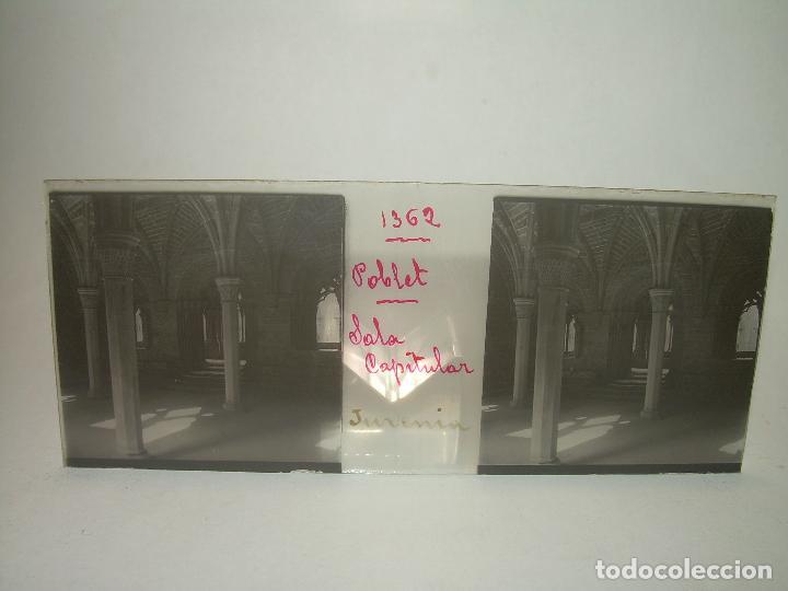 Fotografía antigua: CAJETIN 25 CRISTALES ESTEREOSCOPICOS...MONASTERIO POBLET EN RUINAS..ANTES DE SER RECONSTRUIDO CA1910 - Foto 15 - 92342180