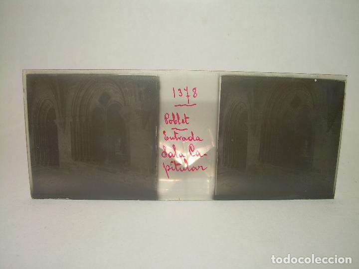 Fotografía antigua: CAJETIN 25 CRISTALES ESTEREOSCOPICOS...MONASTERIO POBLET EN RUINAS..ANTES DE SER RECONSTRUIDO CA1910 - Foto 16 - 92342180