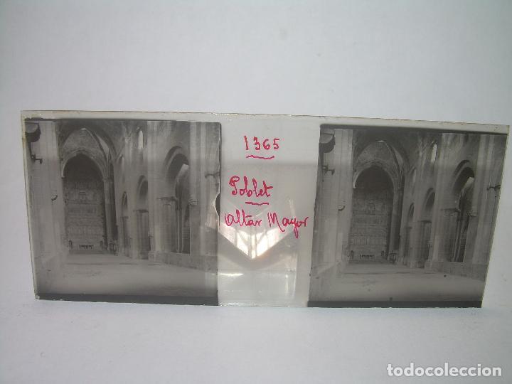 Fotografía antigua: CAJETIN 25 CRISTALES ESTEREOSCOPICOS...MONASTERIO POBLET EN RUINAS..ANTES DE SER RECONSTRUIDO CA1910 - Foto 18 - 92342180