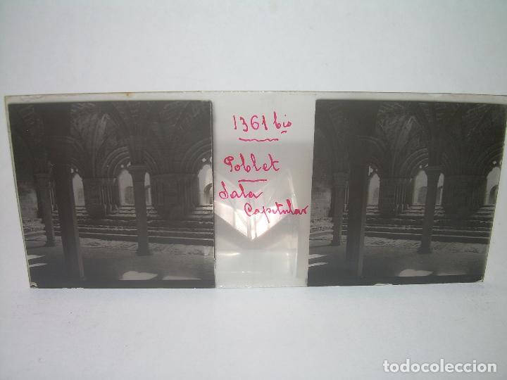Fotografía antigua: CAJETIN 25 CRISTALES ESTEREOSCOPICOS...MONASTERIO POBLET EN RUINAS..ANTES DE SER RECONSTRUIDO CA1910 - Foto 19 - 92342180
