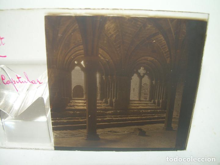 Fotografía antigua: CAJETIN 25 CRISTALES ESTEREOSCOPICOS...MONASTERIO POBLET EN RUINAS..ANTES DE SER RECONSTRUIDO CA1910 - Foto 20 - 92342180