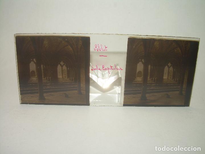 Fotografía antigua: CAJETIN 25 CRISTALES ESTEREOSCOPICOS...MONASTERIO POBLET EN RUINAS..ANTES DE SER RECONSTRUIDO CA1910 - Foto 21 - 92342180