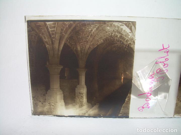Fotografía antigua: CAJETIN 25 CRISTALES ESTEREOSCOPICOS...MONASTERIO POBLET EN RUINAS..ANTES DE SER RECONSTRUIDO CA1910 - Foto 22 - 92342180