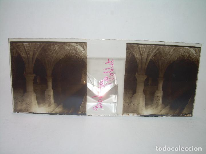 Fotografía antigua: CAJETIN 25 CRISTALES ESTEREOSCOPICOS...MONASTERIO POBLET EN RUINAS..ANTES DE SER RECONSTRUIDO CA1910 - Foto 23 - 92342180
